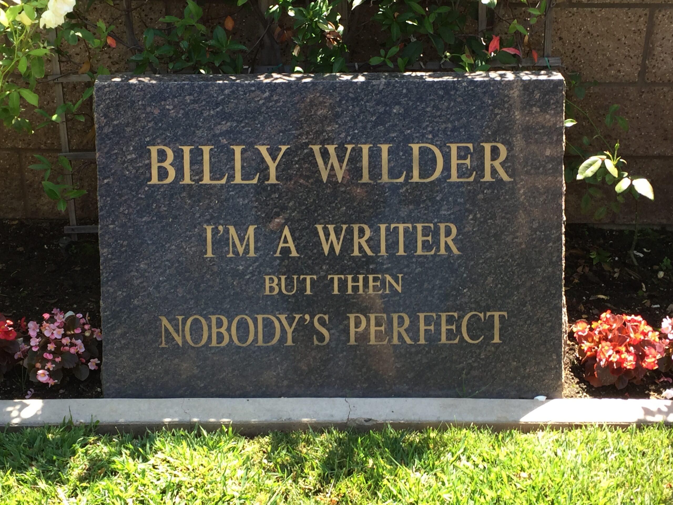 Billy Wilder tombstone