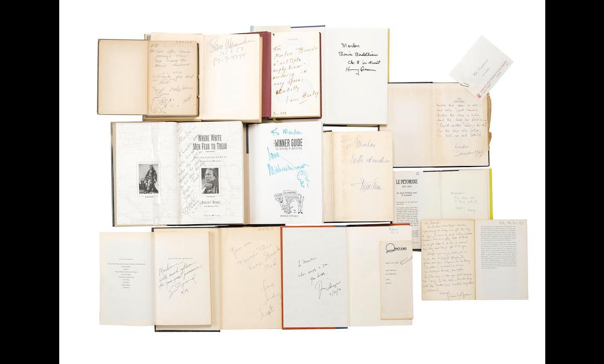 Inscribed books for Marlon Brando
