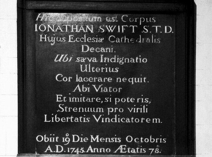 Jonathan Swift tombstone
