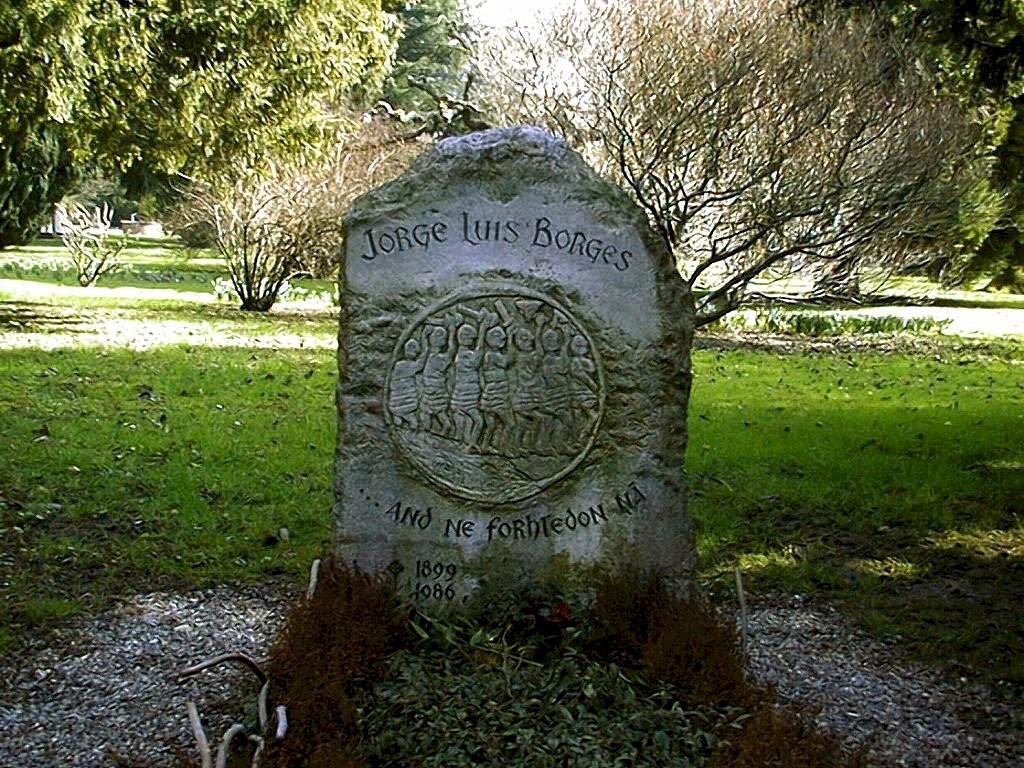 Jorge Luis Borges tombstone