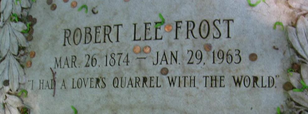 Robert Frost tombstone