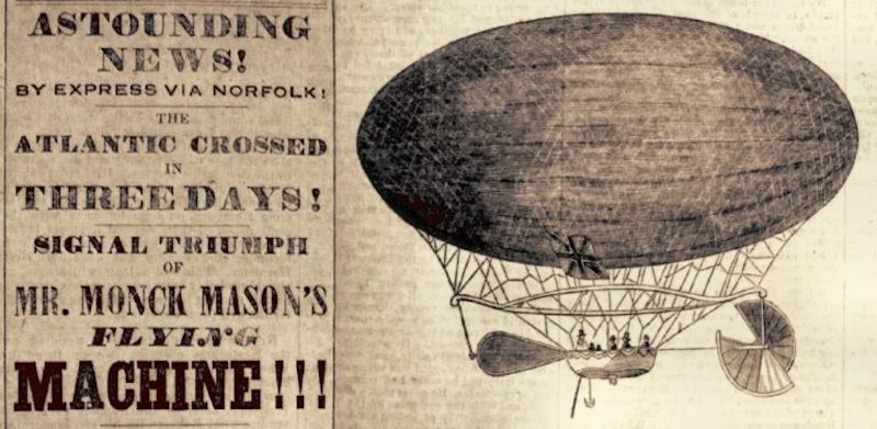The Balloon-Hoax of Edgar Allan Poe and Early New York Grifters