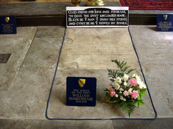 shakespeare tombstone