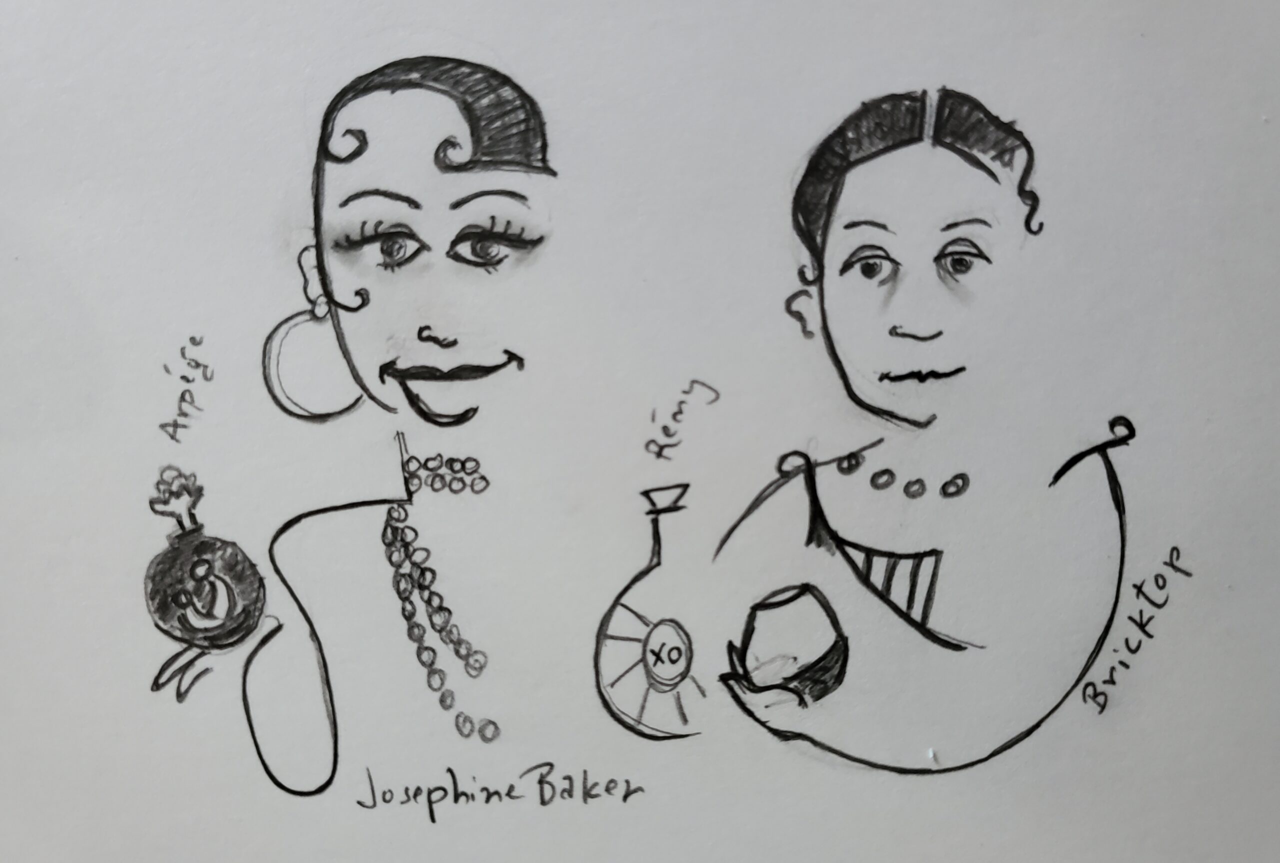"Josephine Baker & Ada ""Bricktop"" Smith"