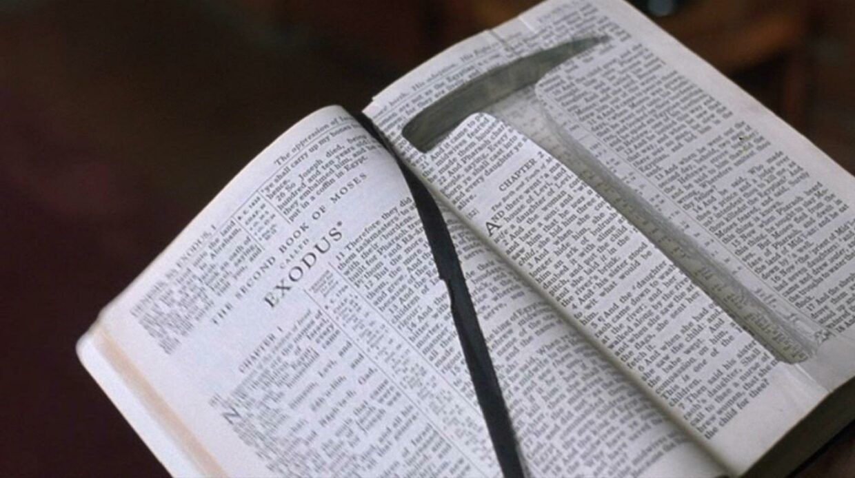 rock hammer, bible