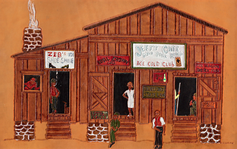 Jeff's Cafe by Winfred Rembert
