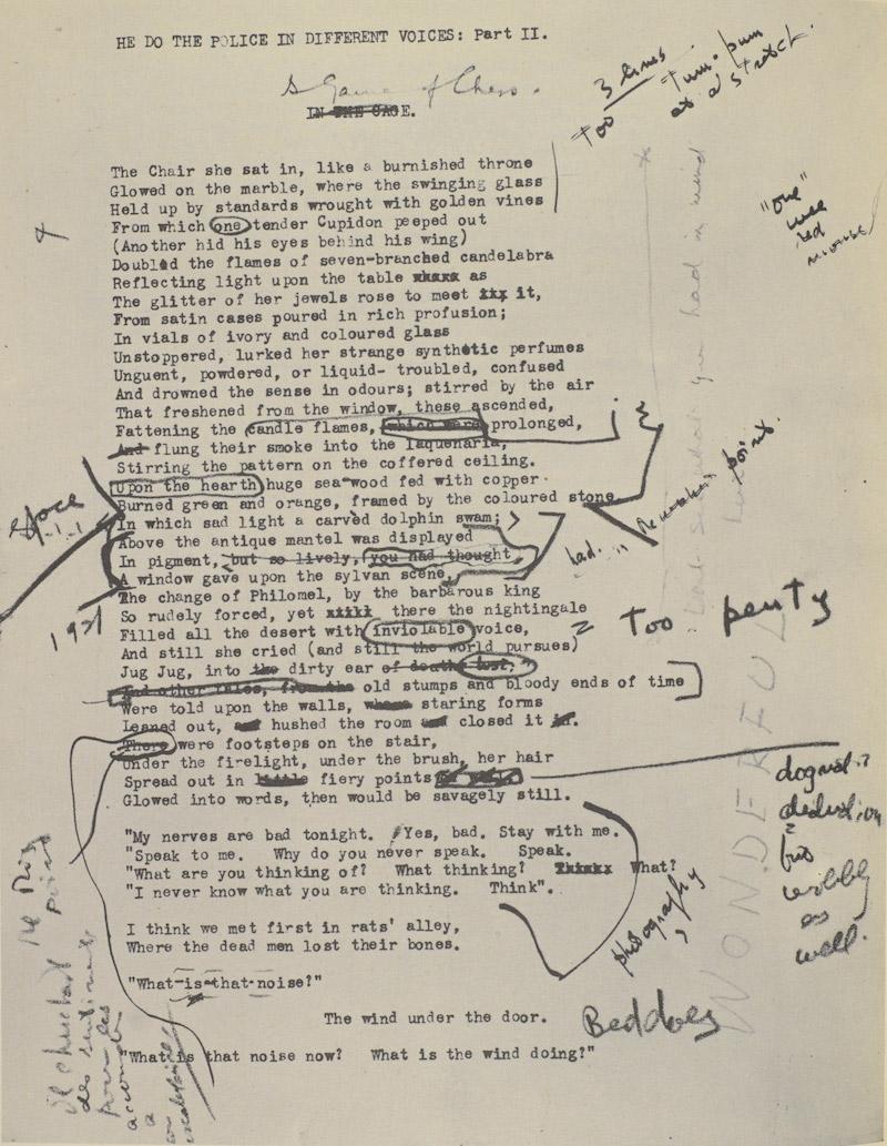 Ezra Pound Eliot Manuscript 10
