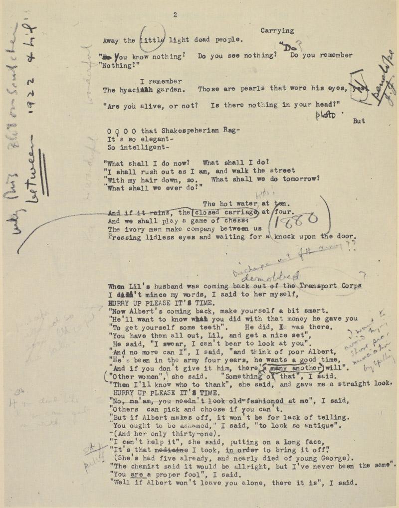 Ezra Pound Eliot Manuscript 12