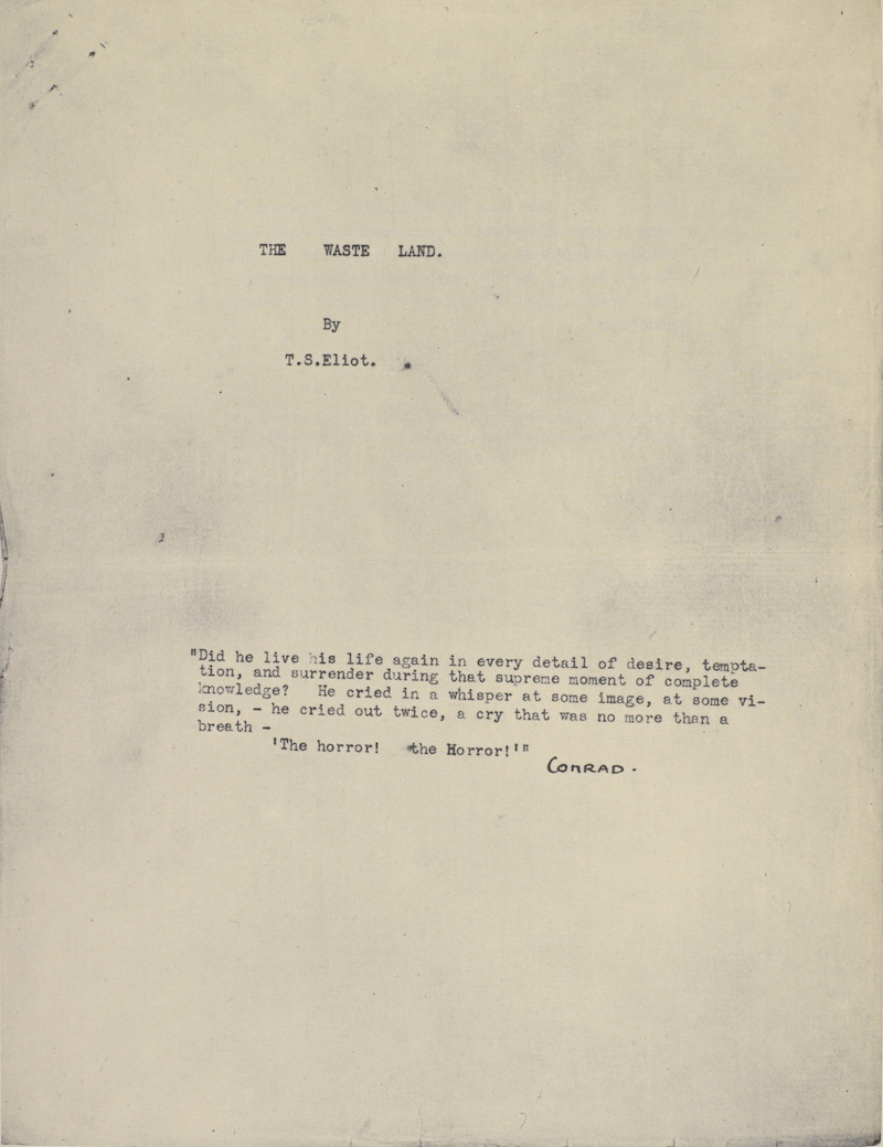 Ezra Pound Eliot Edits