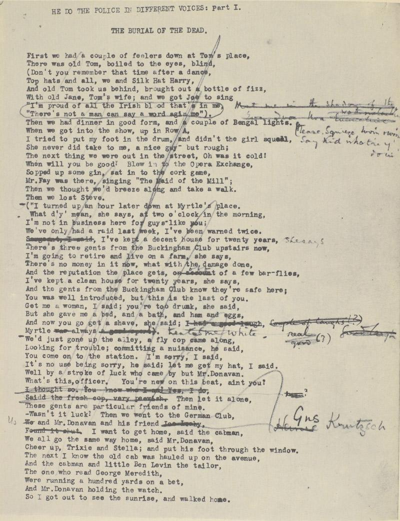 Ezra Pound Eliot Edits 4
