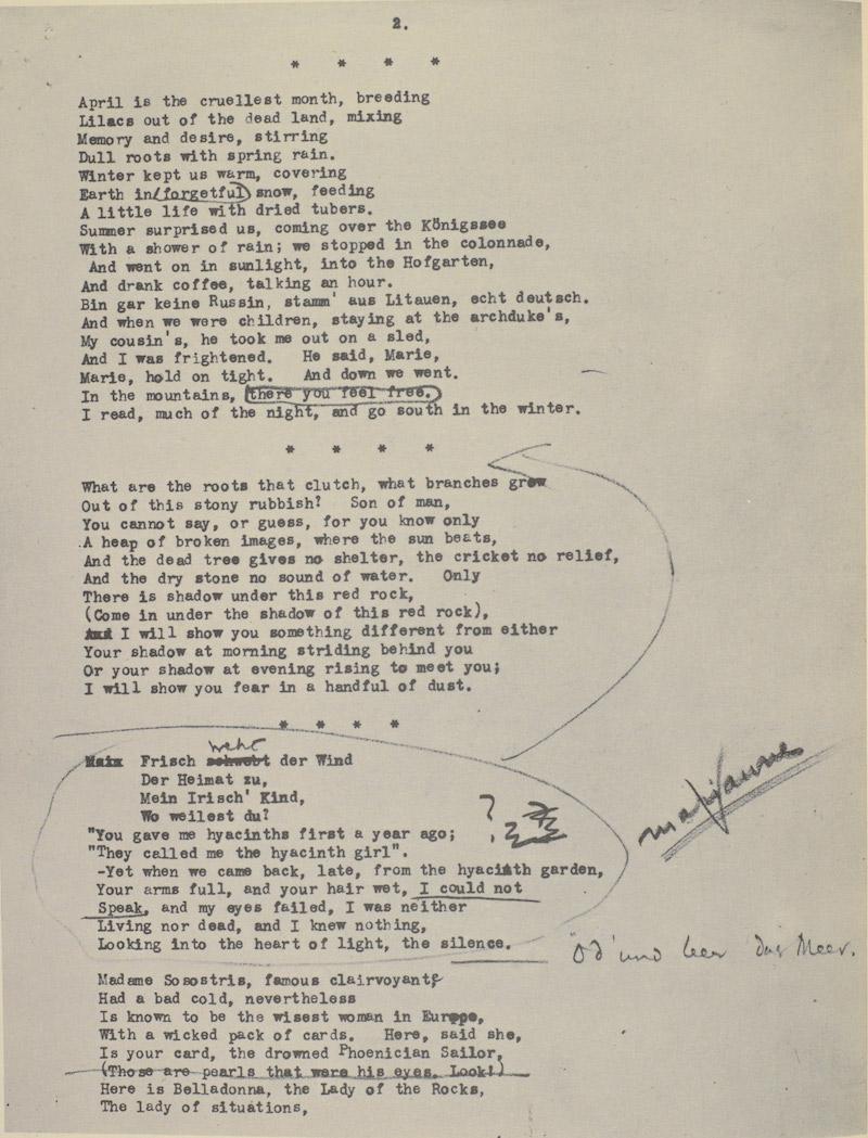 Ezra Pound Eliot Manuscript 6