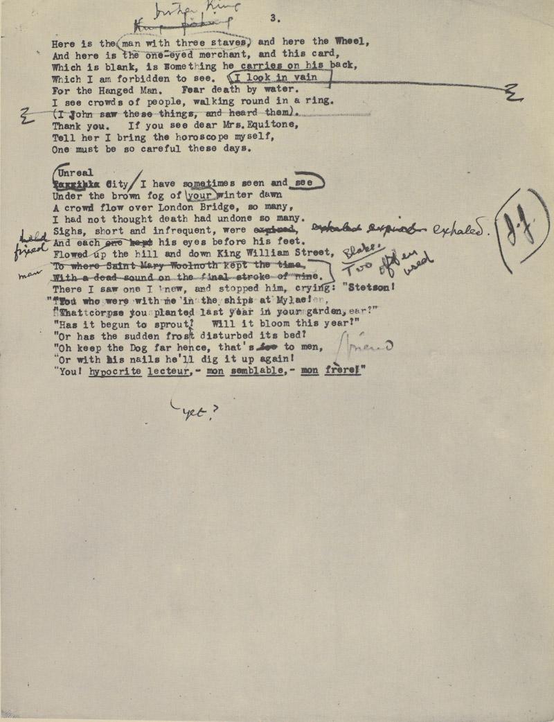 Ezra Pound Eliot Manuscript 8