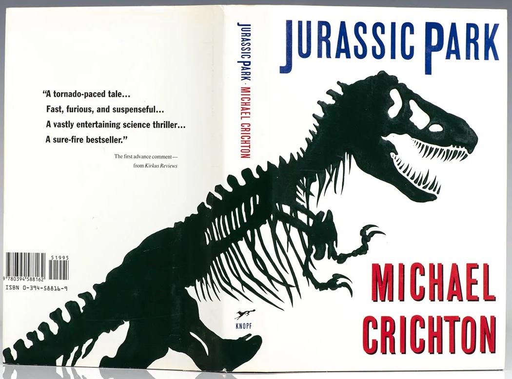 Michael Crichton, Jurassic Park first edition