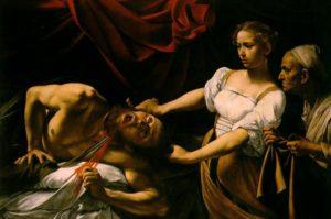 Caravaggio, Judith beheading Holofernes, 1598-99, oil on canvas, 145 x 195 cm (Palazzo Barberini, Rome)